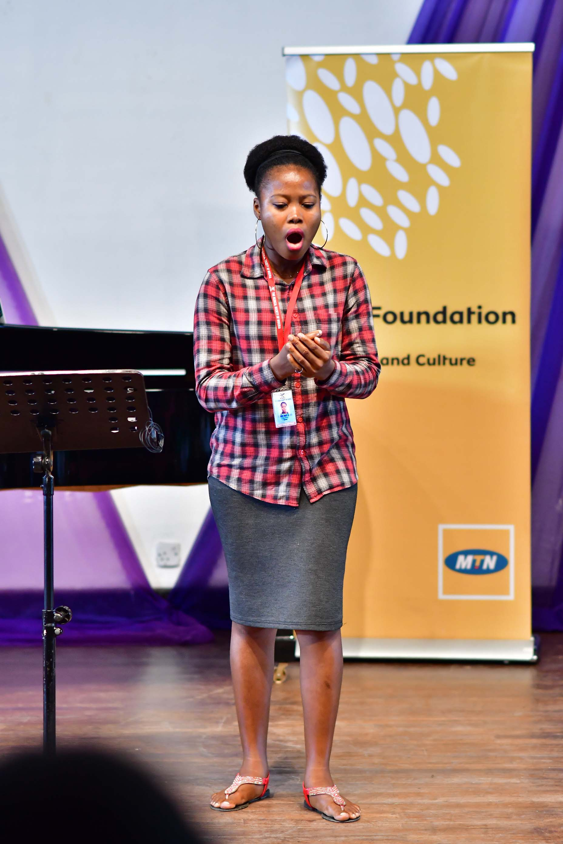 A MUSON scholar performing during the MTN sponsored masterclass held at the MUSON centre recently
