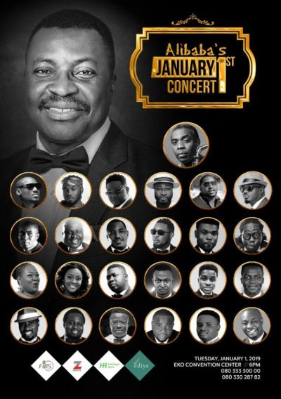 Femi Kuti, 2face Idibia, Wande Coal joins Alibaba January 1st 2019 concert.