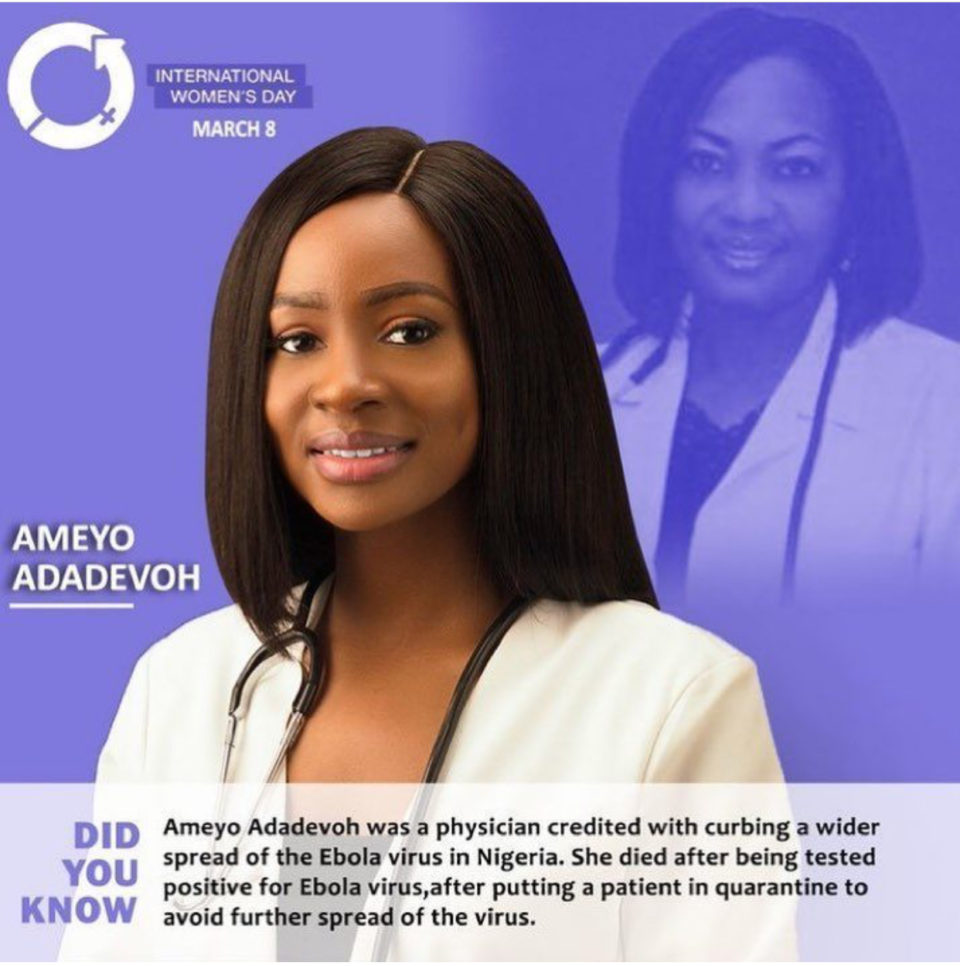 BBNaija ex housemate Anto Lecky Pays Tribute To Chimamanda Adichie, Genevieve Nnaji, And More to celebrate the International Women's Day.