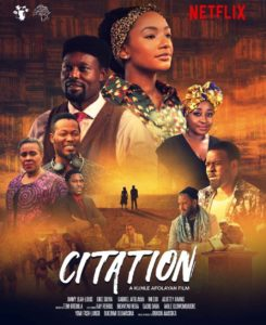 Kunle Afolayan Movie, Citation, Drops Exclusively On Netflix From November 6