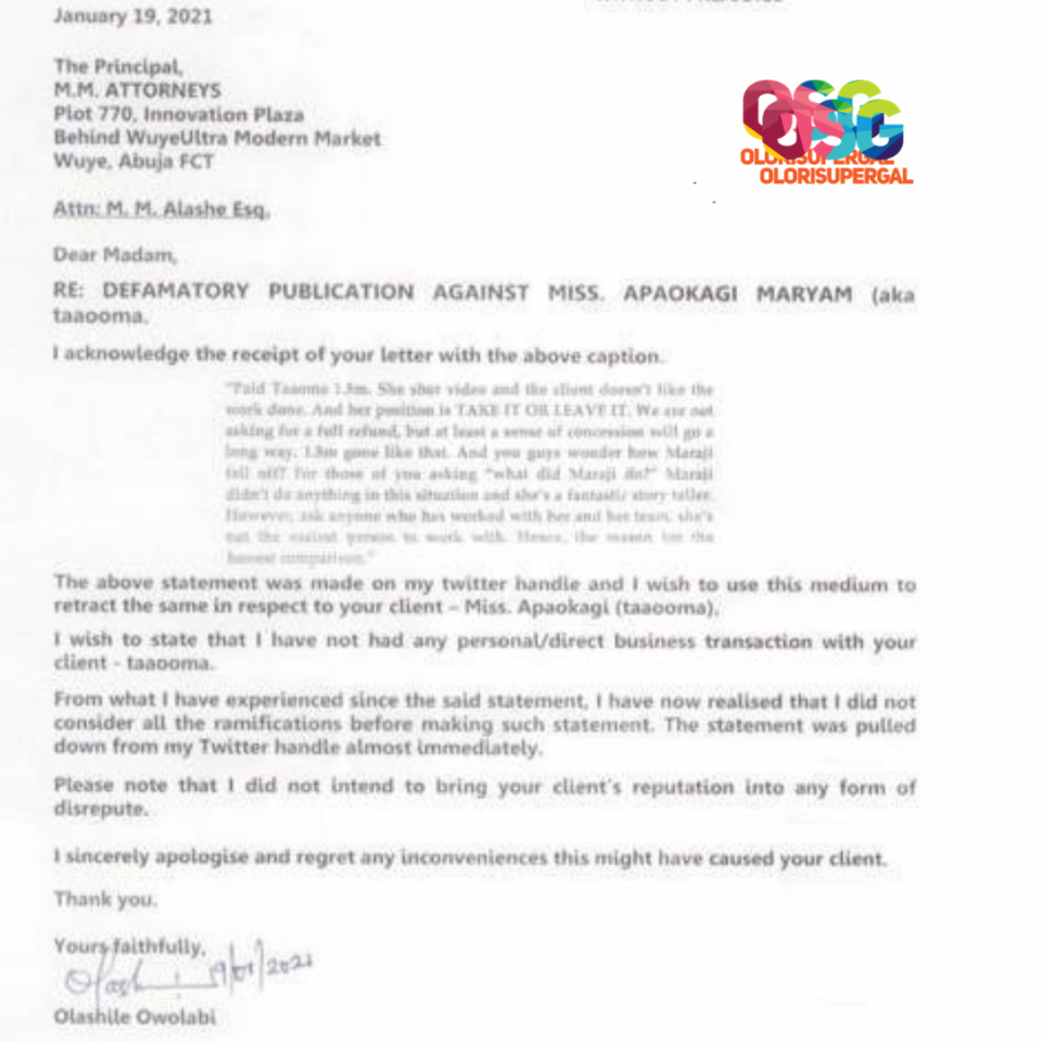 Exclusive: Filmmaker Apologises To Taaooma Following N1.5Million Skit Allegation