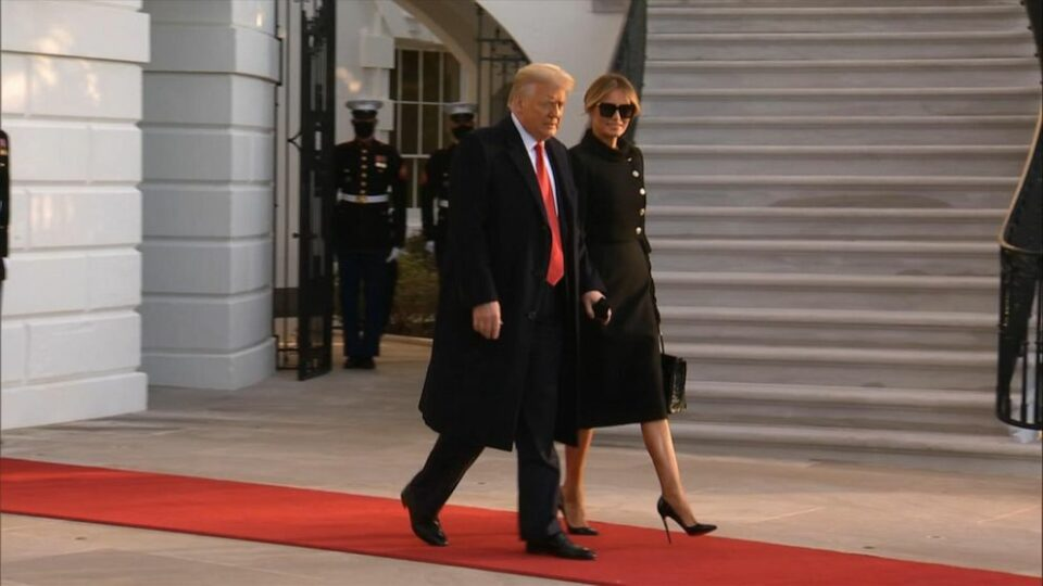 Donald Trump Leaves The White House After Four Years As President