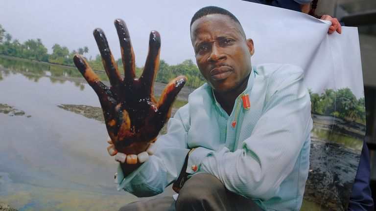 Little action has been taken to clean up pollution caused by oil production in Nigeria's Niger Delta region, either by the government or Shell Oil, Amnesty International and other groups charged Monday. Aug. 4, 2014.