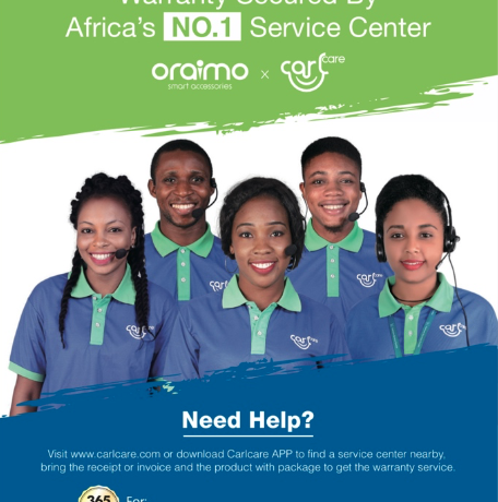 oraimo Partners With Carlcare To Provide Excellent User Experience