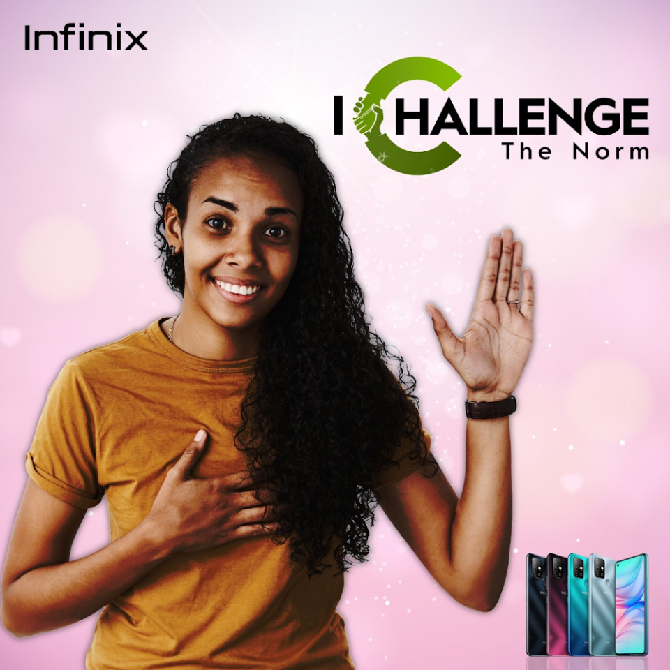 Infinix prompts its community to join the move for equality as we celebrate International Women's Day 2021.