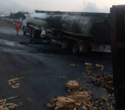 Tanker Explosion Rocks Otedola Bridge, Leaves Cars In Ruin