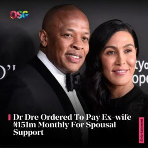 Dr Dre Ordered To Pay Ex-wife ?151m Monthly For Spousal Support