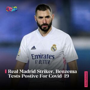 Real Madrid Stricker, Benzema Tests Positive For Covid-19