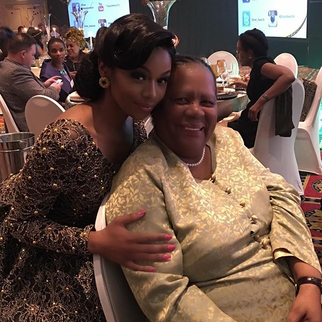 BONANG MATHEBA AND Naledi Pandor, South Africa's Minister Of Science and Technology