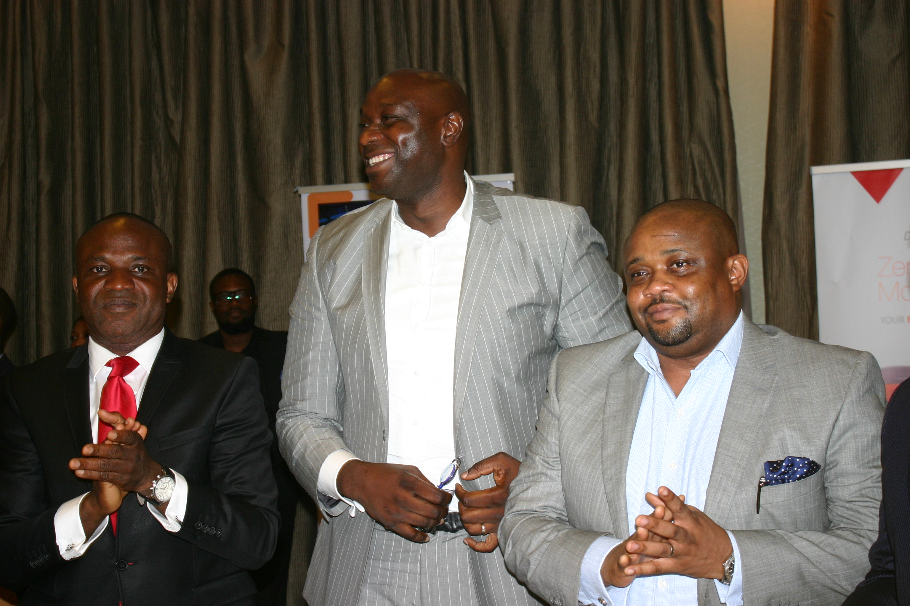 L-R Excutive director of Zenith Bank, Sola Oladipo, MD Wakanow, Obinna Ekezie and deputy MD, Wakanow, Ralph Tamuno