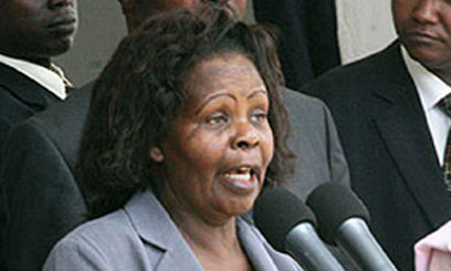 Former first lady, Lucy Kibaki