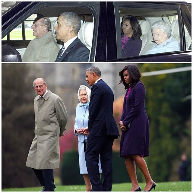 OBAMA WITH THE QUEEN