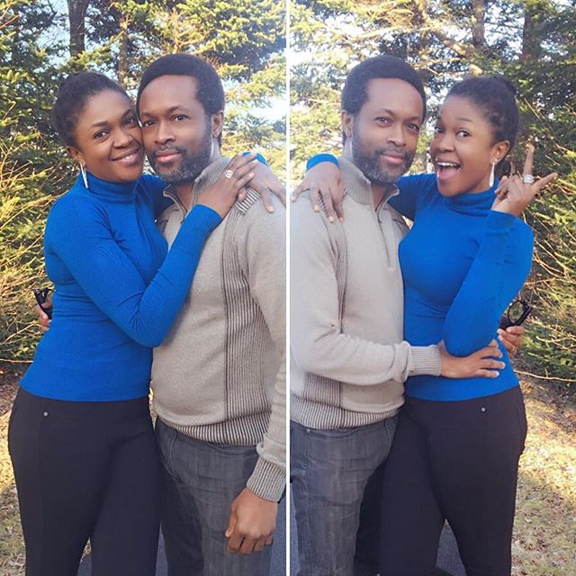 OMONI OBOLI WITHE HER HUSBAND
