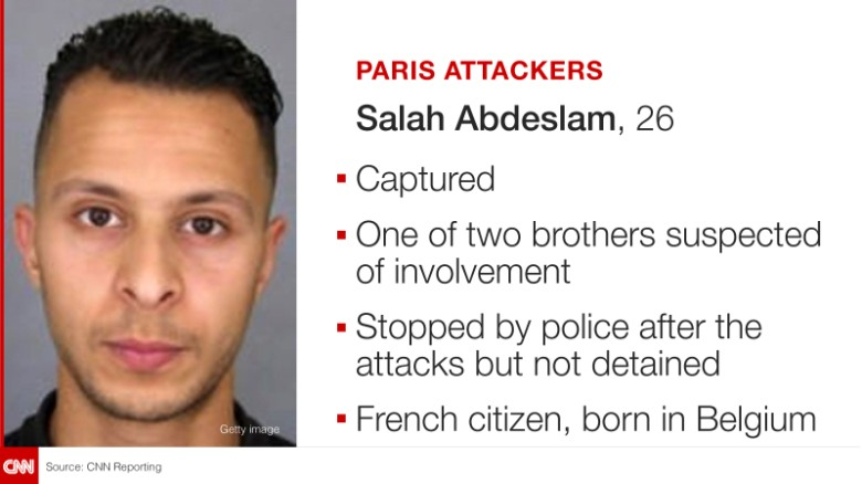 French terror suspect Salah Abdelslam