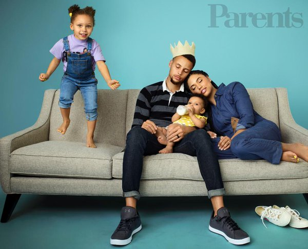 Steph curry s amazing family cover parents magazine olori supergal