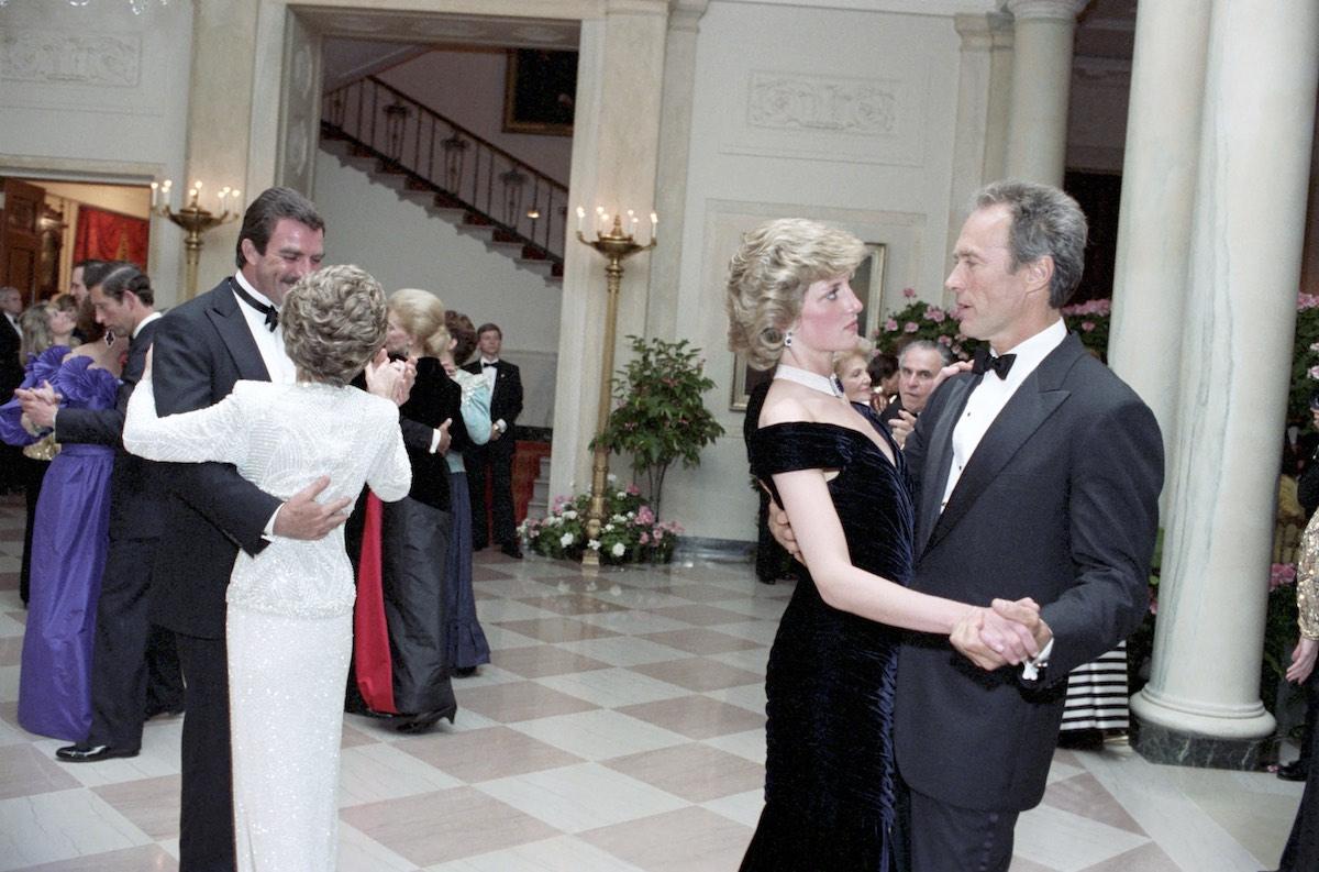 Princess Diana and Clint Eastwood