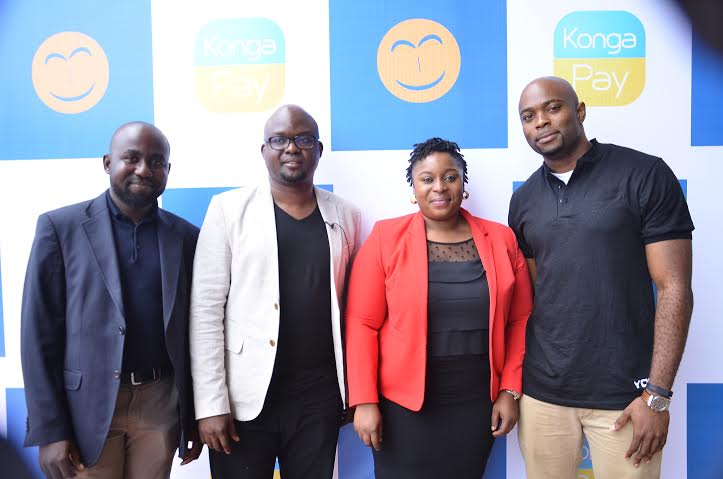 Olayemi Jinadu, V.P Payment and Digital Goods Konga.com, Shola Adekoya, CEO Konga.com, Mayowa Adebayo, Director Customer Experience and Marketing Konga.com, JR Kanu, Associate Director Payment and Digital goods