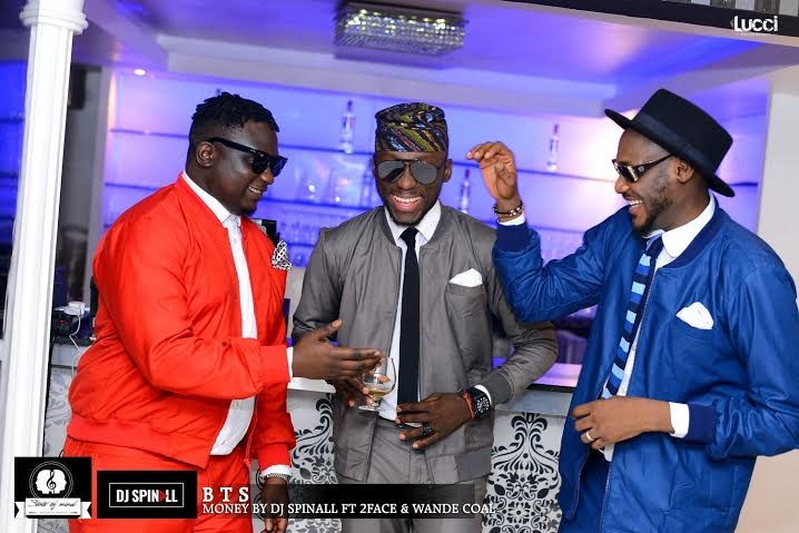 on set - dj spinall, wande coal and 2 baba
