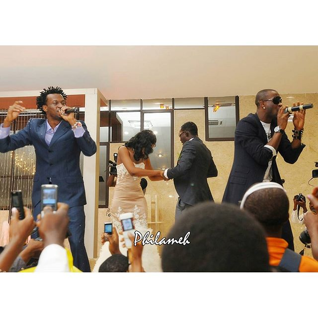 p square performing at ayo makunw edding